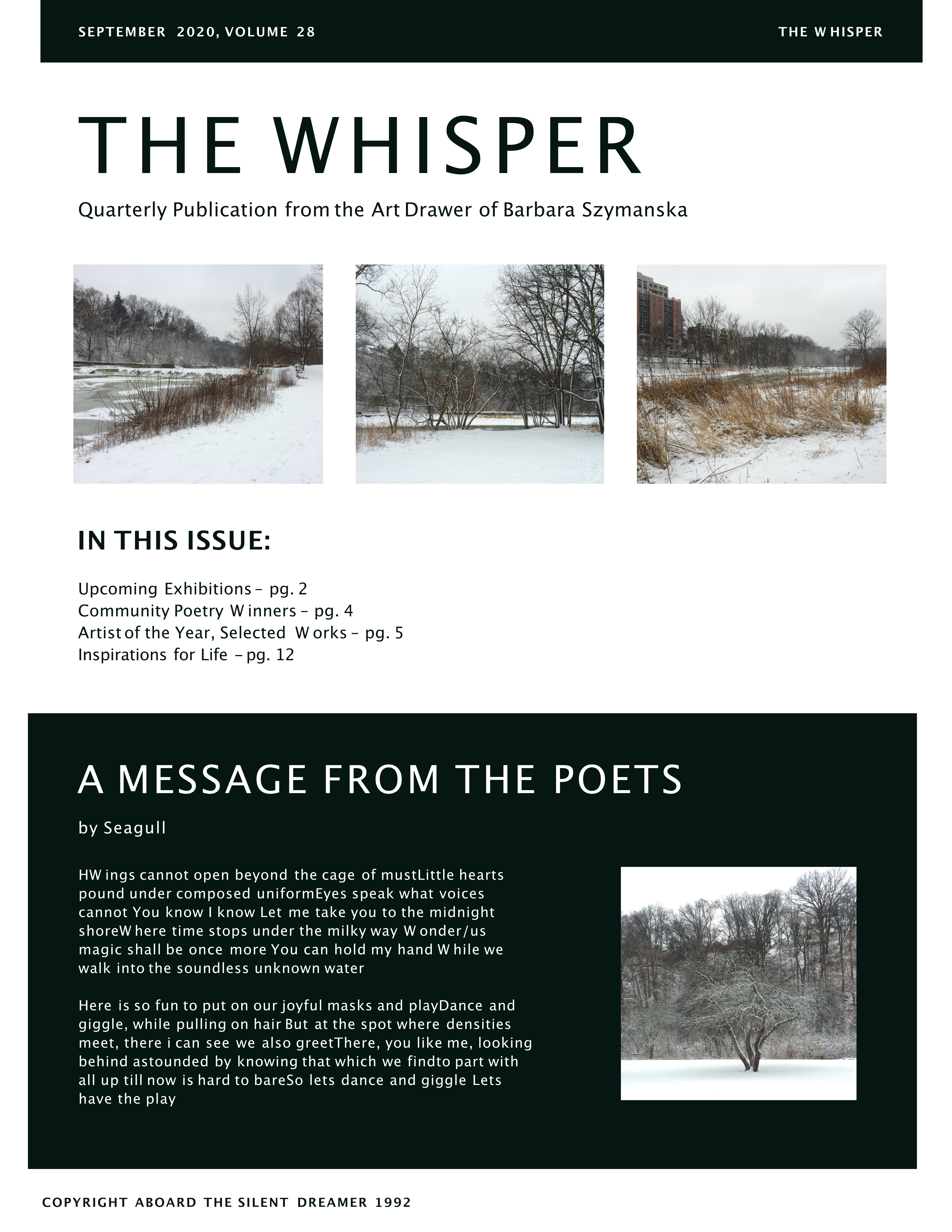 the Whisper pg. one