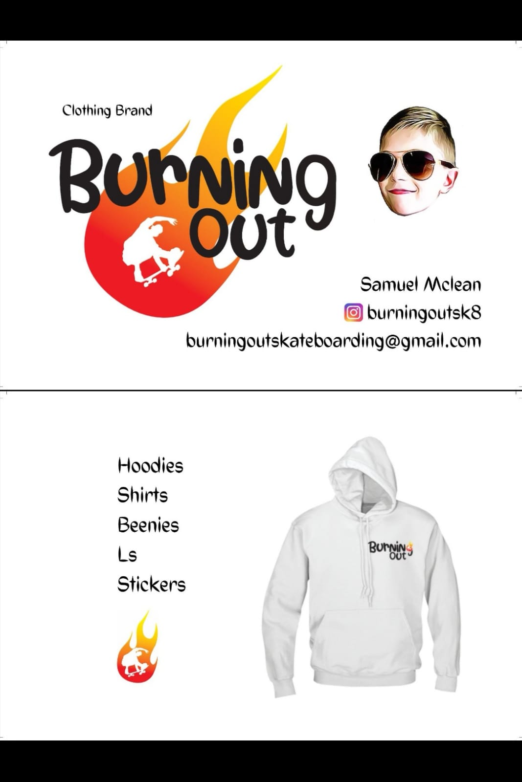 Burning Out Promo Card