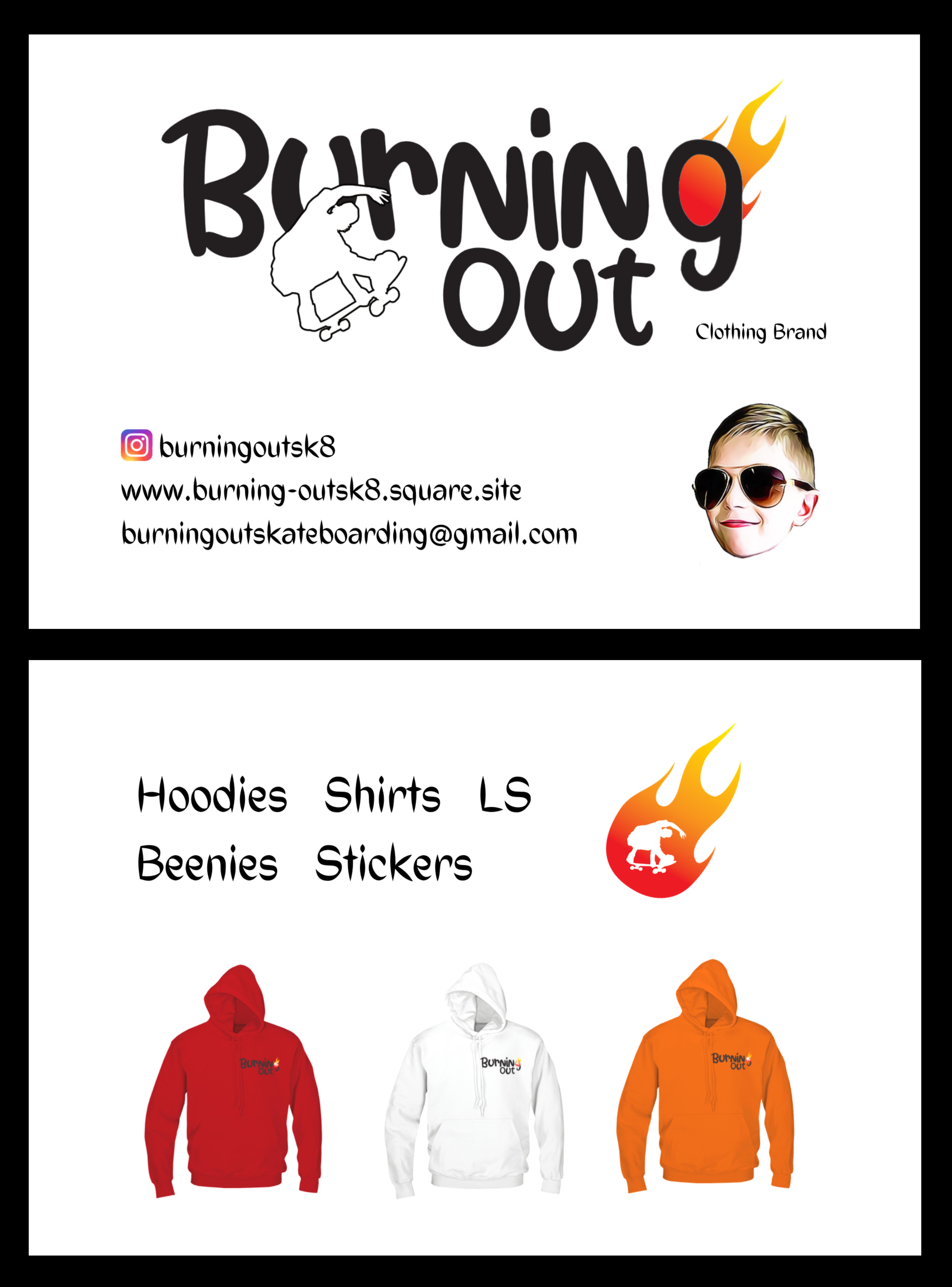 Burningout sk8 clothing brand