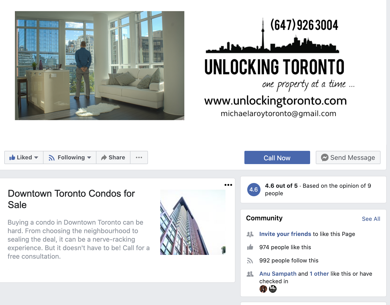 Unolocking Toronto, Michael Roy