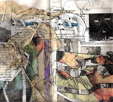 memories #2,collage in found book,30/20cm,2008