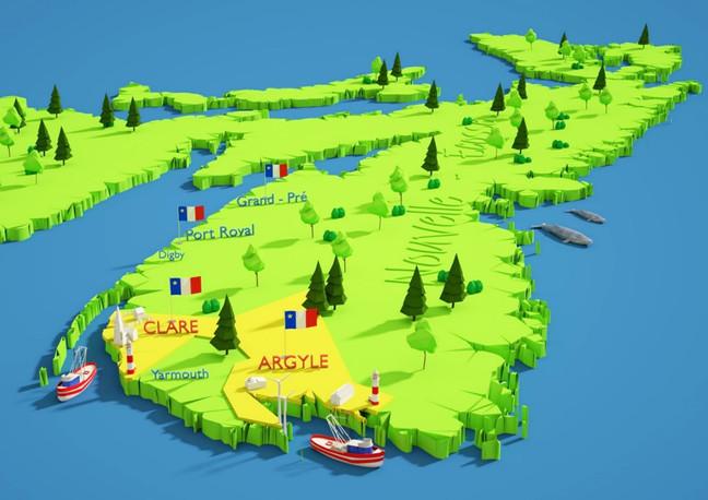 Nova Scotia 3D Map