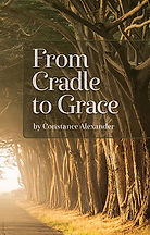 Book Title - From Cradle to Grace; Book Cover - road with a thick line of trees