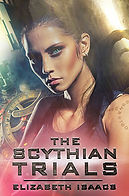 Book Title - The Scythian Trials; Book Cover - picture of the primary female character