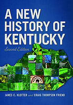 Book Title - A New History of Kentucky, Second Edition; Book Cover - mixture of various tiles placed within the shape of Kentucky