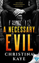 Book Title - A Necessary Evil; Book Cover - Man sitting in a chair holding a gun