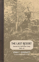 BookTitle - The Last Resort: Journal of a Salt River Camp 1942-43; Book Cover - man sitting on th edge of a rock cliff