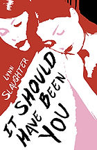 Book Title - It Should Have Been You; Book Cover - drawing of a female leaning her head on another female's shoulder