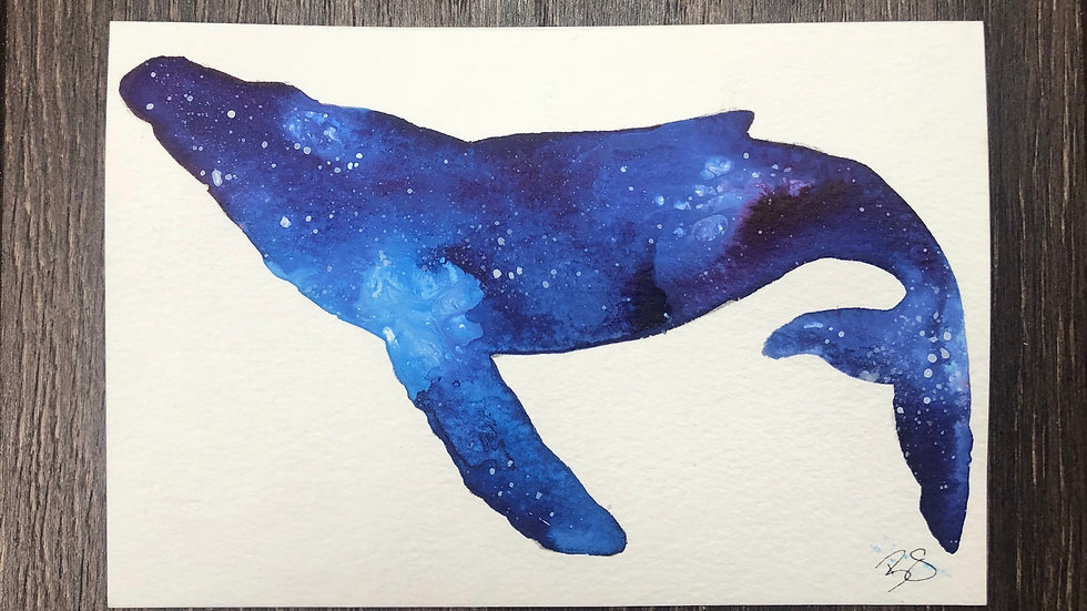 Twilight Whale ll - postcard