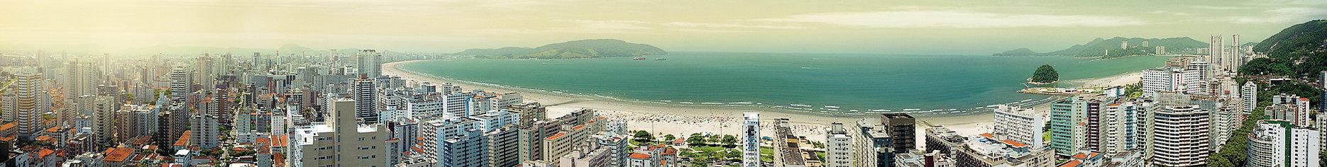 panoramica aerea de Santos