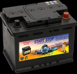 Baterias novas e usadas
