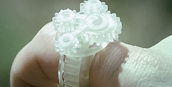3D printed gear model that is designed for additive manufacturing methods