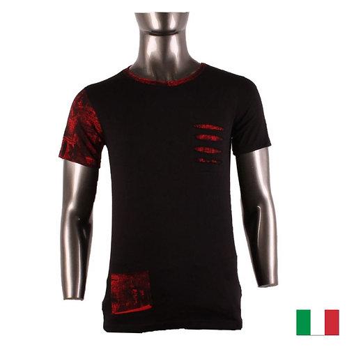 T-Shirt FASHION Black Red