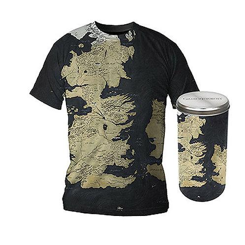 Gra o Tron Mapa Westeros Ekskluzywna wersja T-Shirt