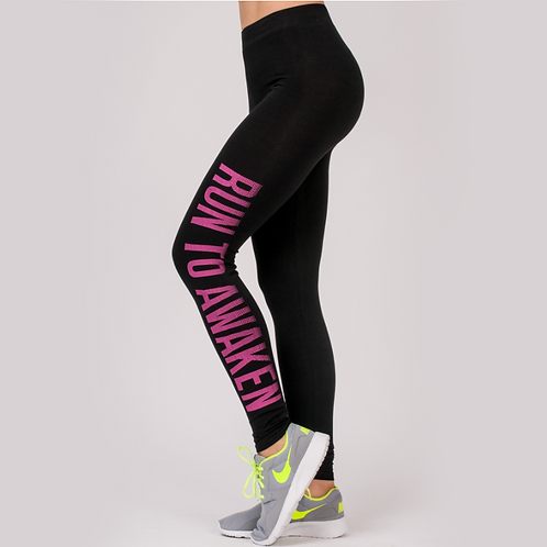 Legginsy Run Pink