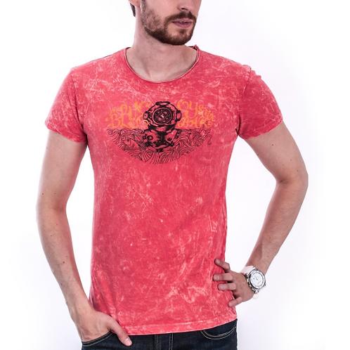 Red Denim T-Shirt