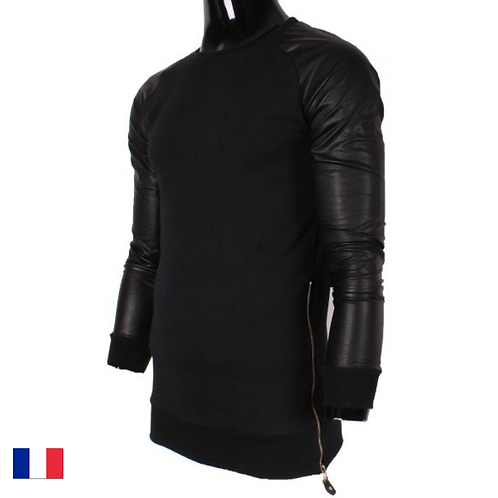 Intuition Homme Long Sweat Leather Black