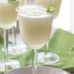 Sgroppino  (lemon sorbet with Vodka and prosecco)