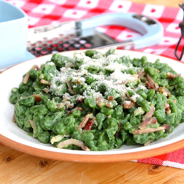Spatzle with Spinach
