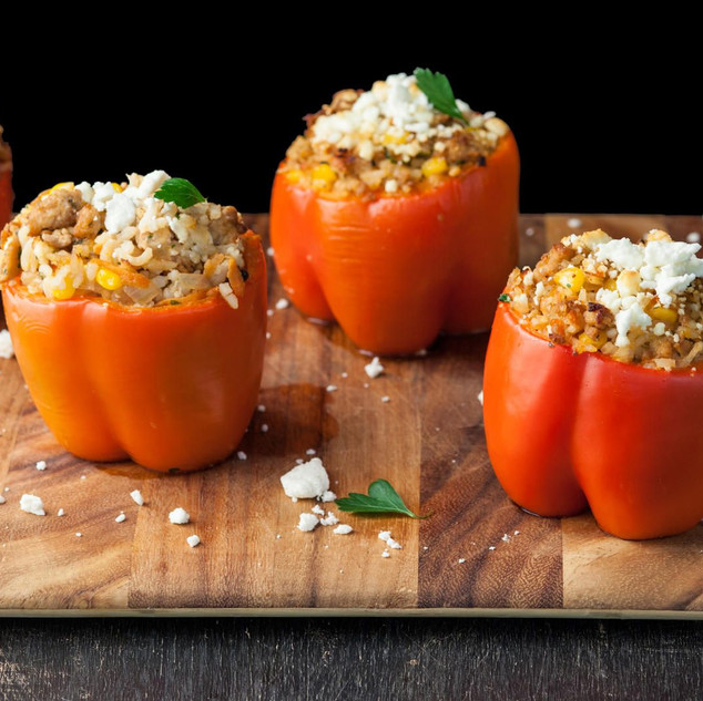 Stuffed bell pepper from Sicily