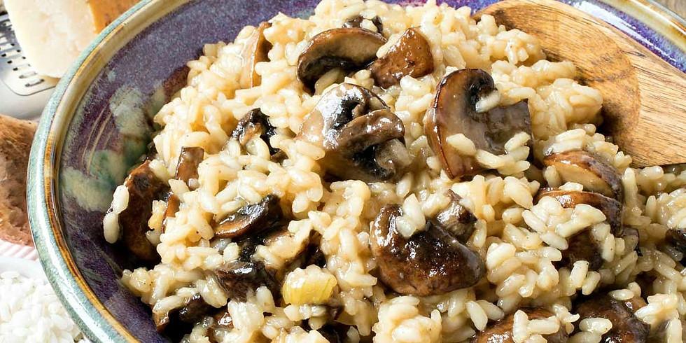 Mushroom and truffle risotto Virtual Class