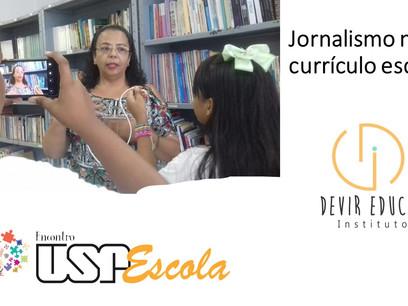 Docentes de todo o país discutem o jornalismo no aprendizado em palestra do Encontro USP-Escola