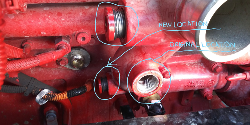 relocation of plugs and fittings to make things work