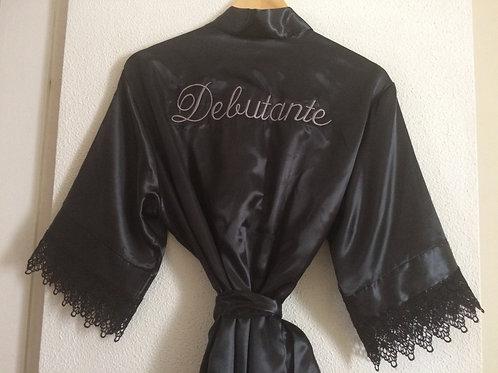 Robe com renda guipir para debutantes