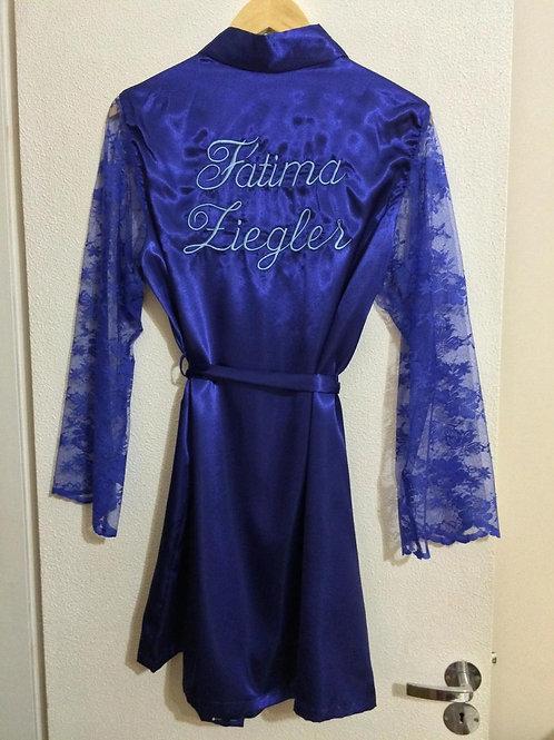 Robe com manga comprida em renda para aniversários e outros