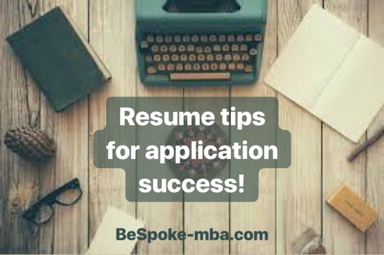 Ten key components of an MBA applicant resume