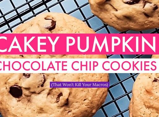 Cakey Pumpkin Chocolate Chip Cookies (That Won't Kill Your Macros)