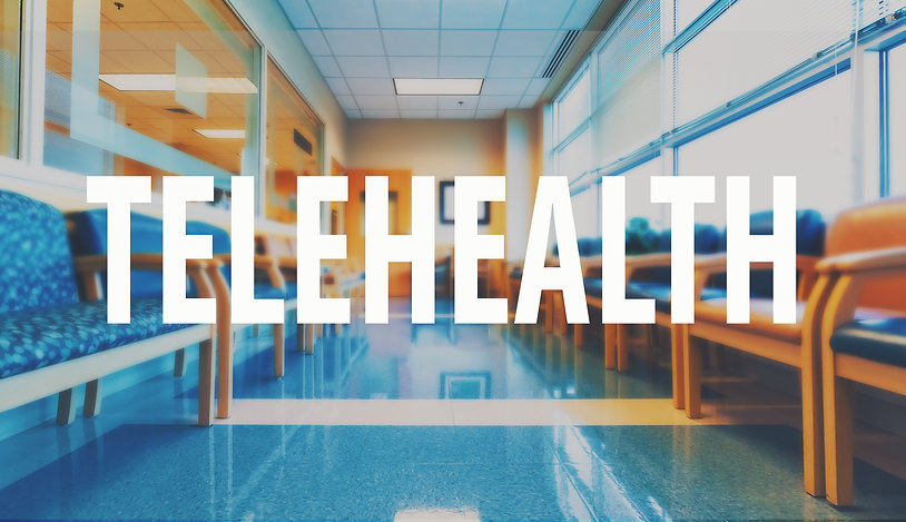 Telehealth theme with a medical office r