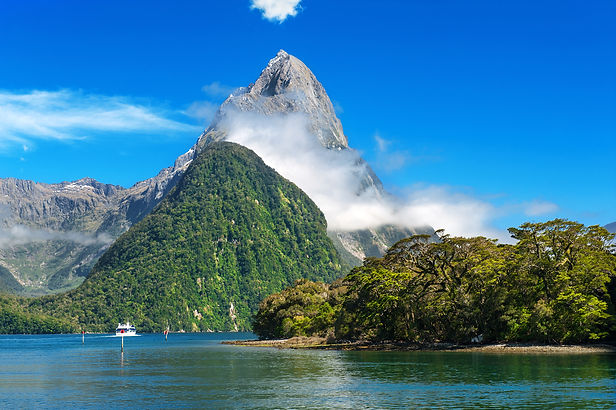 Famous Mitre Peak rising from the Milfor