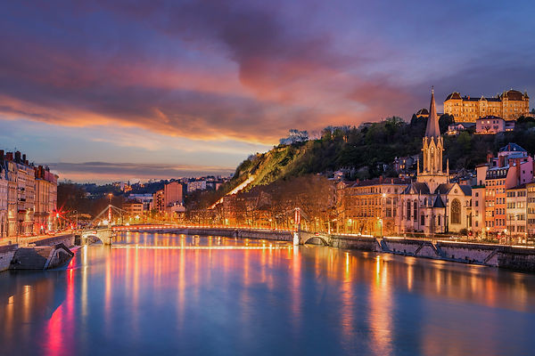 View of Saone river in Lyon city at evening, France .jpg