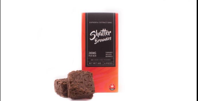 240mg Sativa Shatter Brownies
