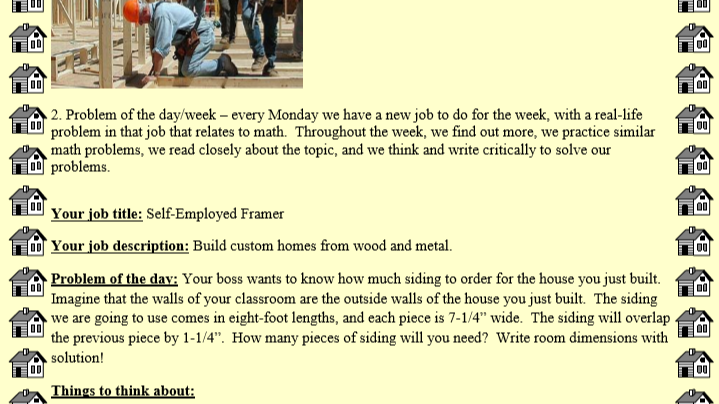 Real World Jobs - Area - Framers & Ottawa Tribes