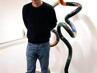 Jonathan Anderson with Infinite Queen Sculpture