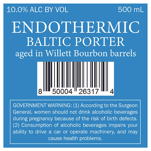 Barrel Aged Endothermic - Baltic Porter aged in Willett Bourbon