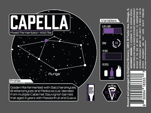Capella - Mixed Fermentation Wild Ale w/ Passionfruit and Guava
