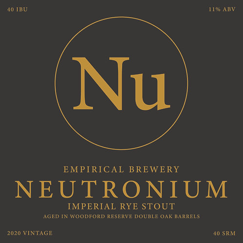 2020 B.A. Neutronium - Imperial Rye Stout in Woodford Reserve barrels