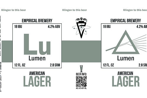 Lumen - Unfiltered American Lager