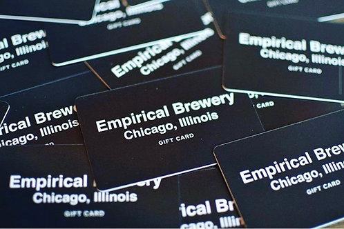 Empirical Brewery gift card