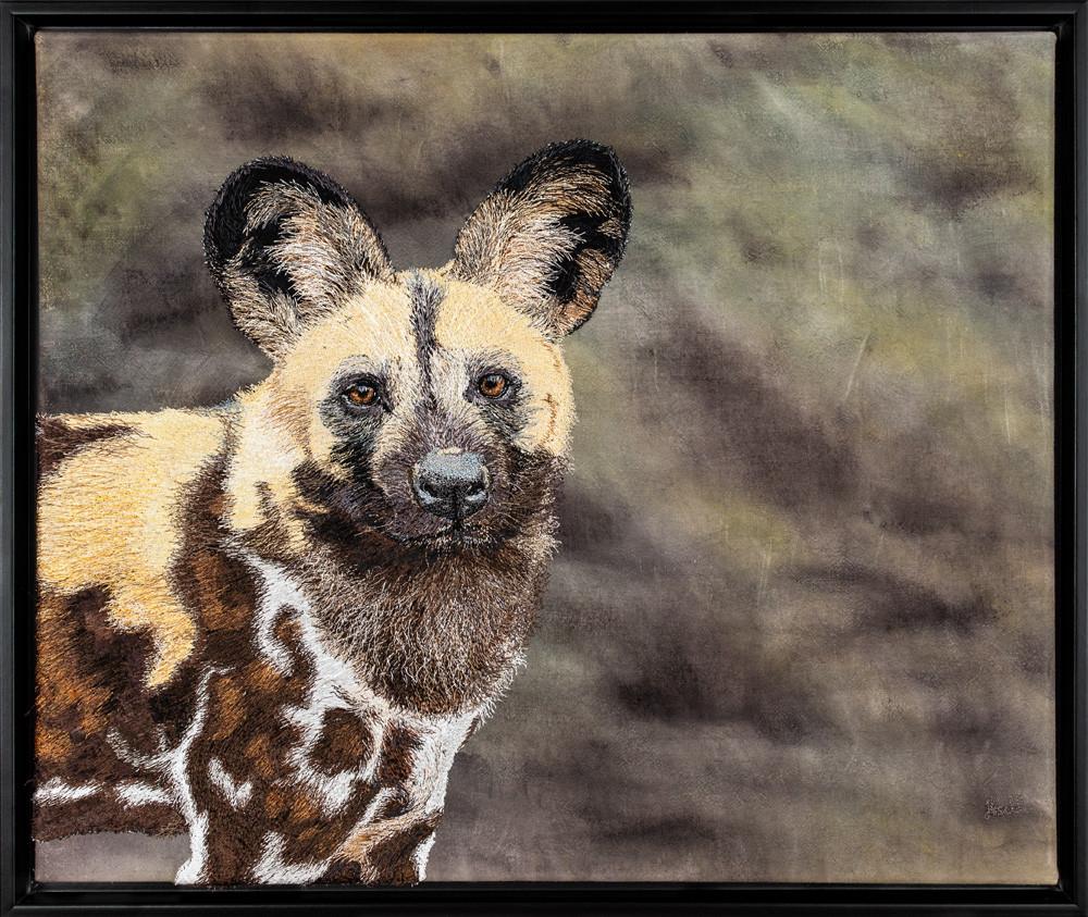 African Wilddog Portrait