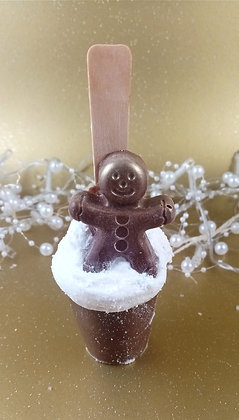Gingerbread Hot Chocolate Spoon
