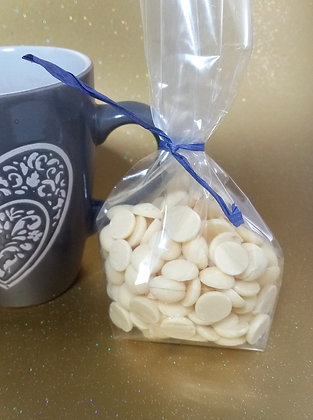 White chocolate buttons or hot choc! 100g