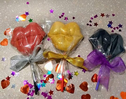 Lip Chocolate Lollies. Each lollypop