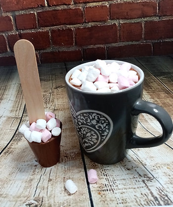 Milk Choc Marshmallow Stirrer for hot chocolate