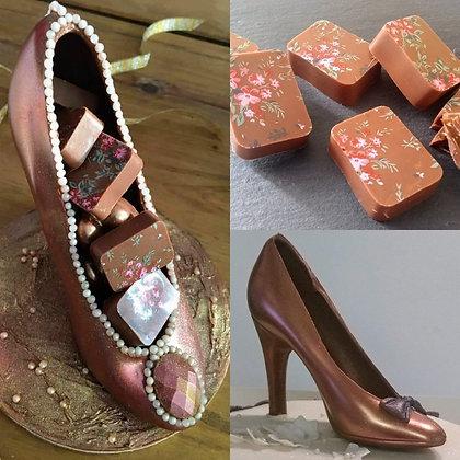 Chocolate Shoe & 8 Truffles!
