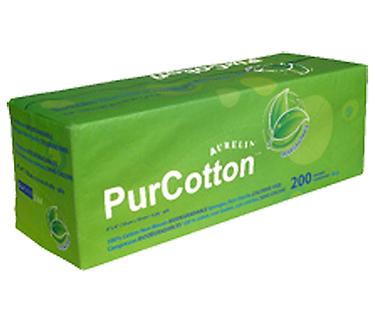 "PUR-COTTON NON WOVEN GAUZE SPONGE NON-STERILE 4 PLY 2""X2""  200/pack"