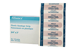 BANDAGES PLASTIC STRIP STYLE 3/4″ X 3″ STERILE LAT
